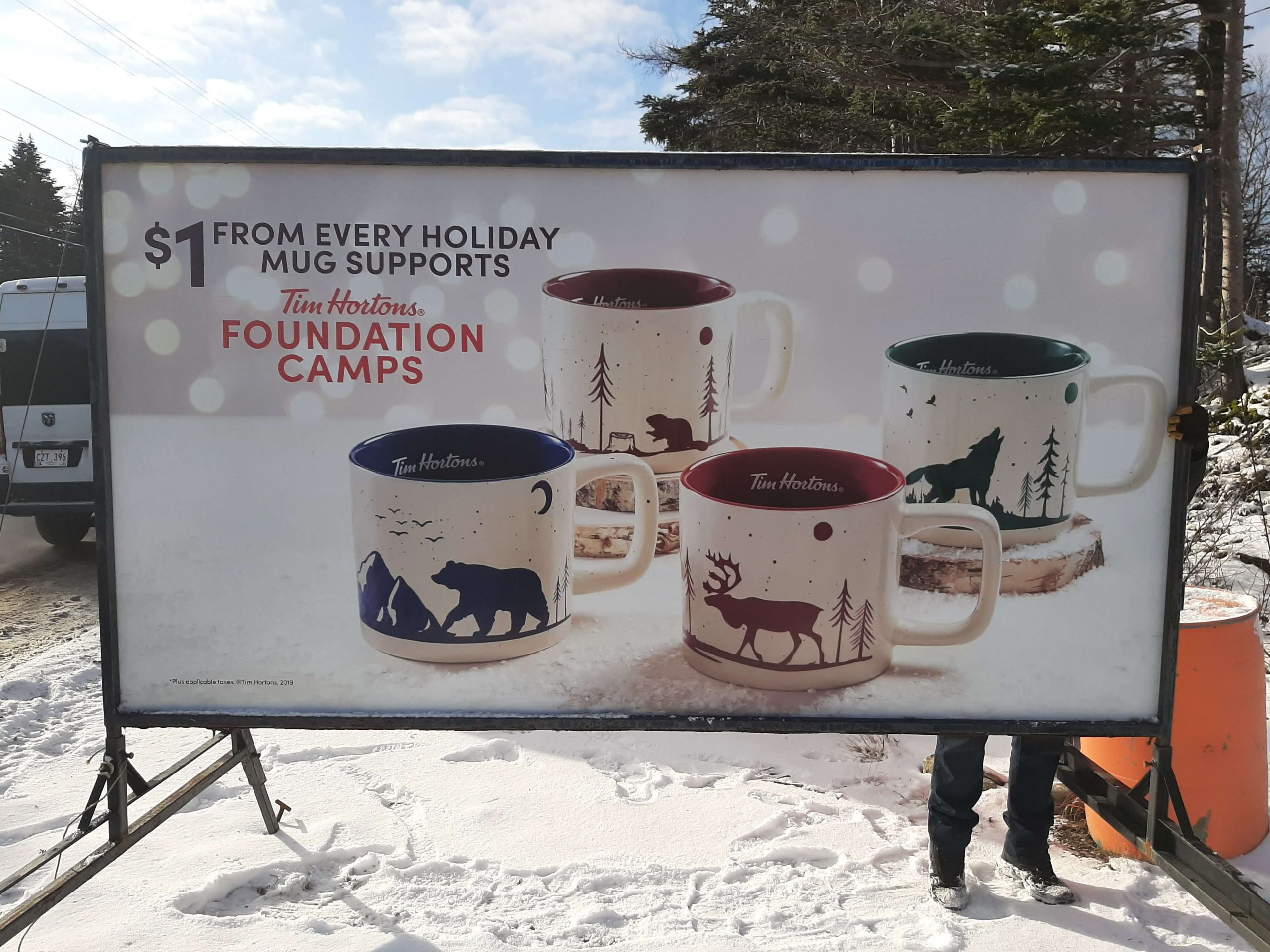 hortons foundation cups sign